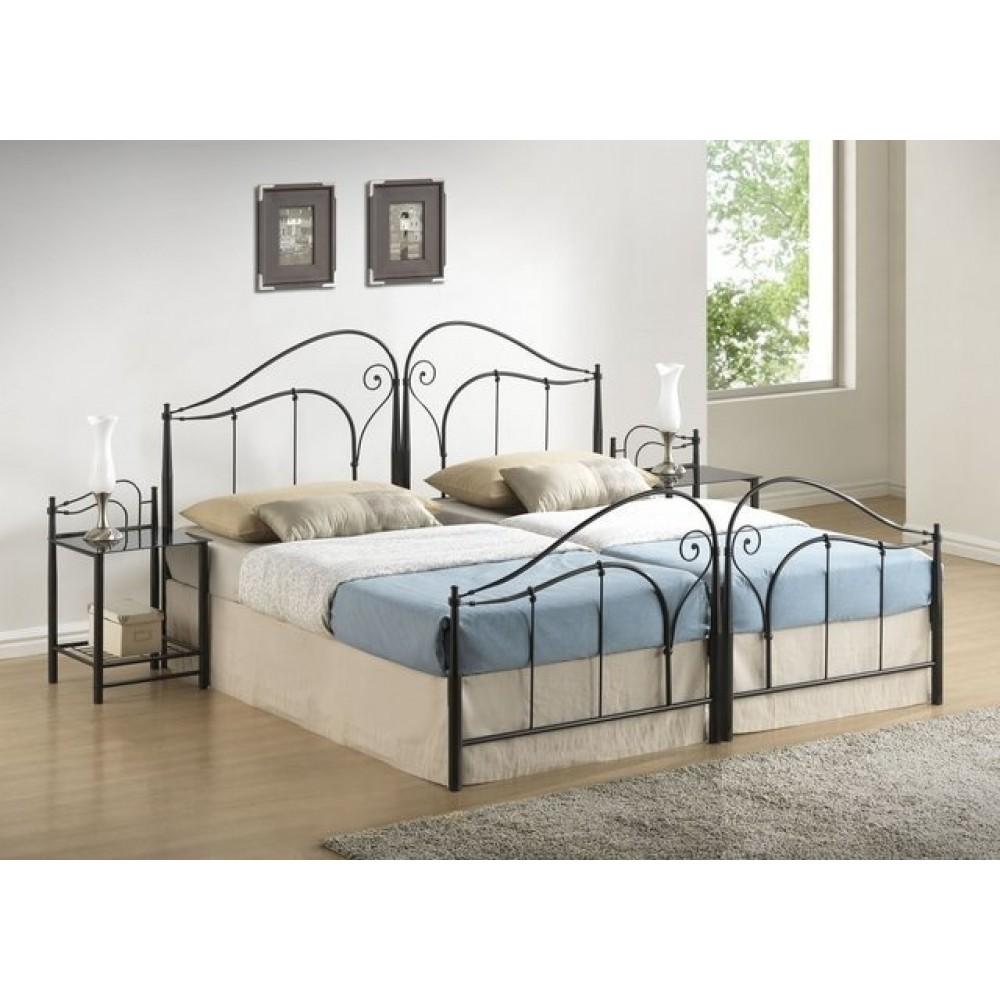 Кровать Дуэт 200x180 (8033-H MK-2123-BM) Черный металл