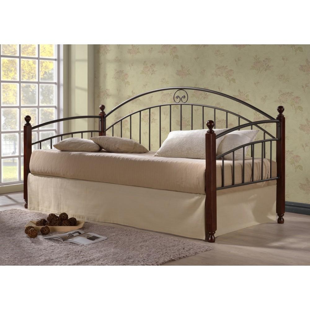 Кровать Дорис 200x90 (Doris MK-5235-RO металл) Темная вишня