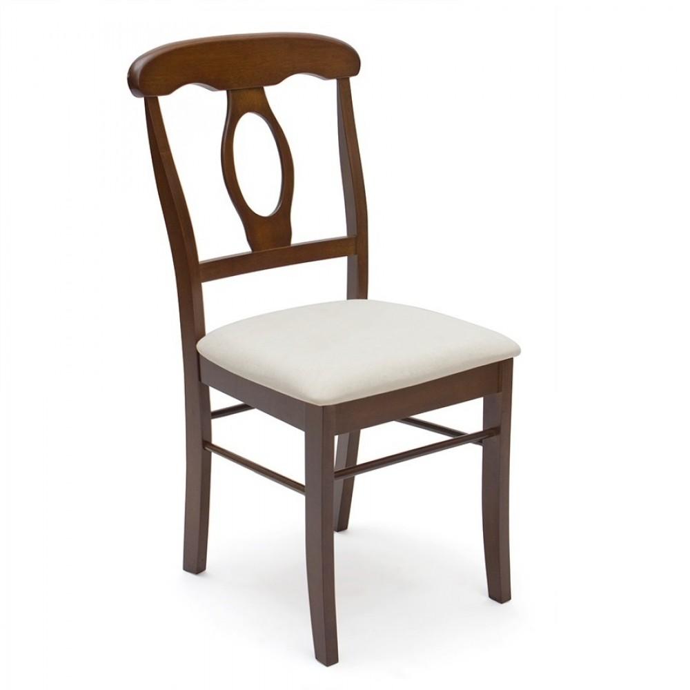 Стул Наполеон (Napoleon) Античный белый с мягким сиденьем — белый