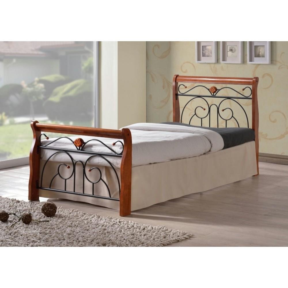 Кровать MK-5227-RO 200x90 (MK-5227-RO) Темная вишня