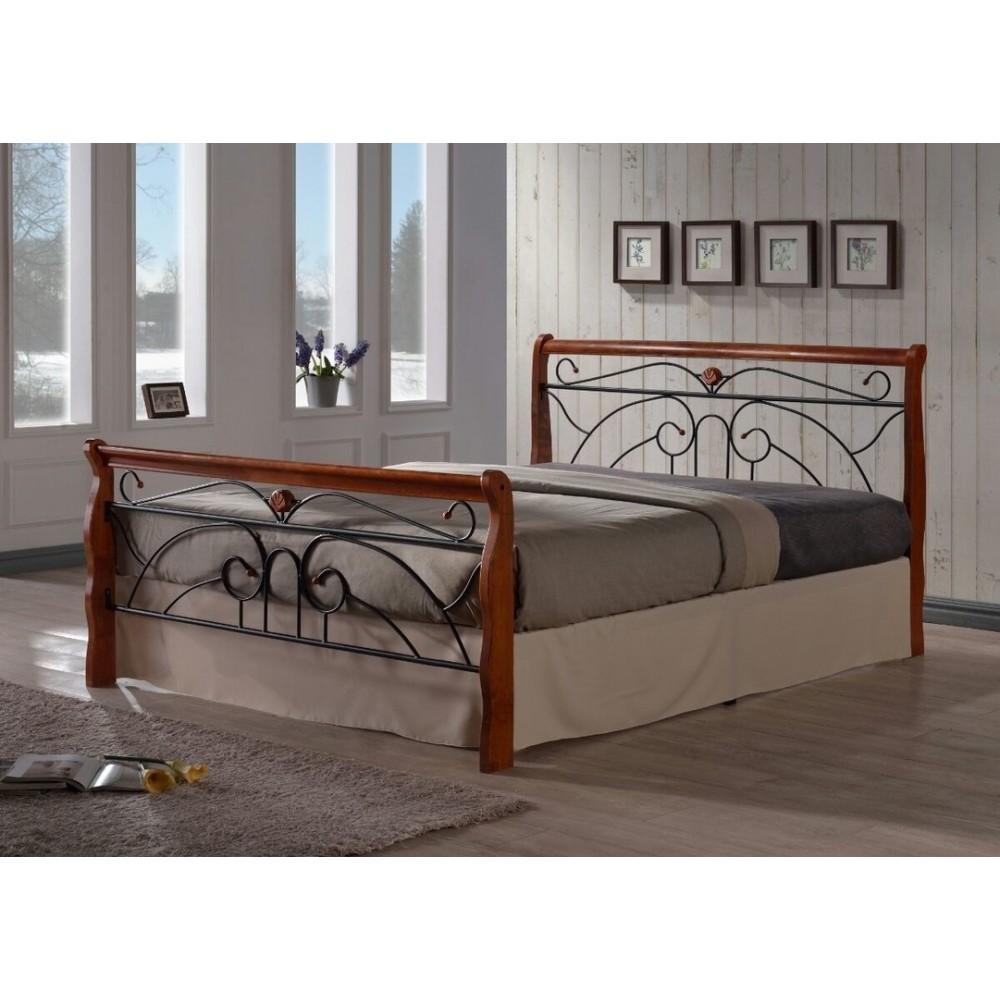 Кровать MK-5228-RO 200x160 (MK-5228-RO) Темная вишня