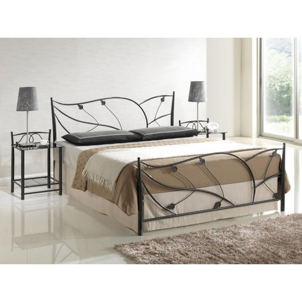 Кровать Лоза 200x160 (9315-SNS MK-2106-BM) Черный металл