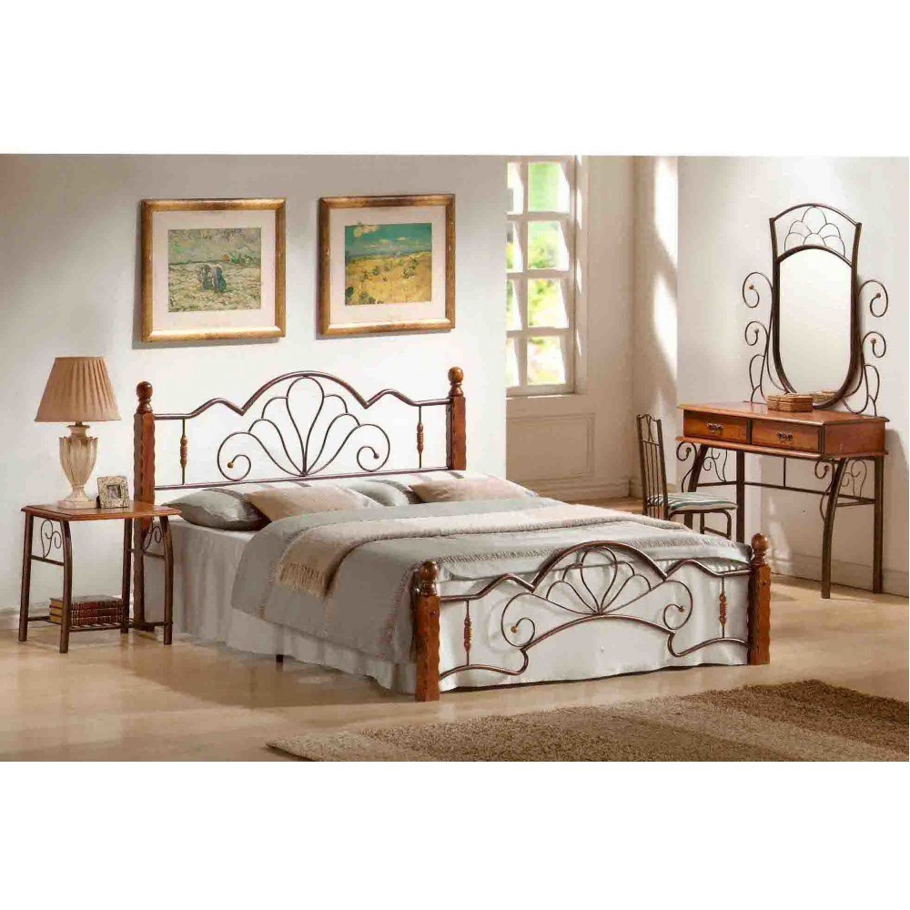 Кровать FD 871 200x160 (MK-1912-RO) Темная вишня