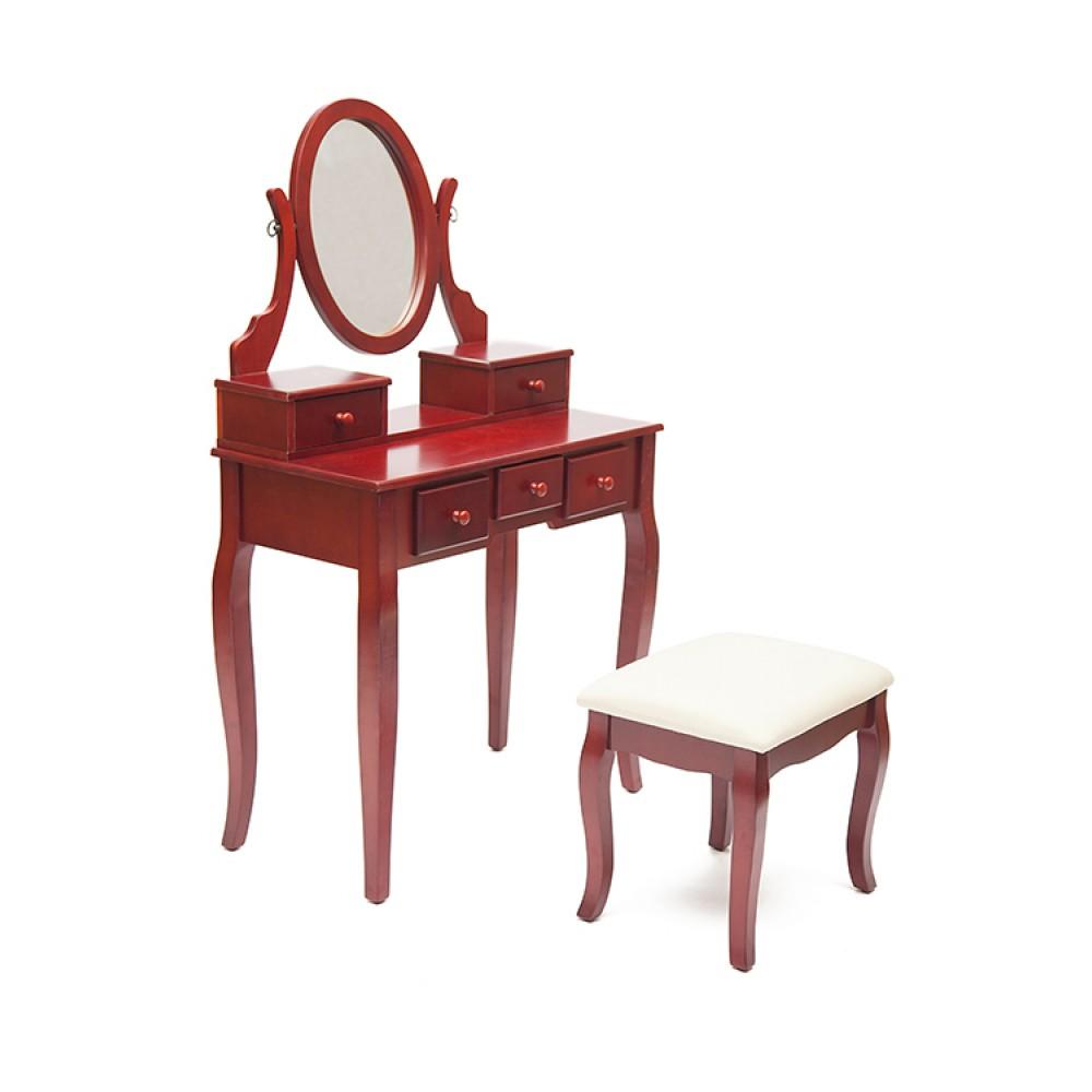 Туалетный столик NY-V3023 (с пуфом) — Вишня (Cherry)