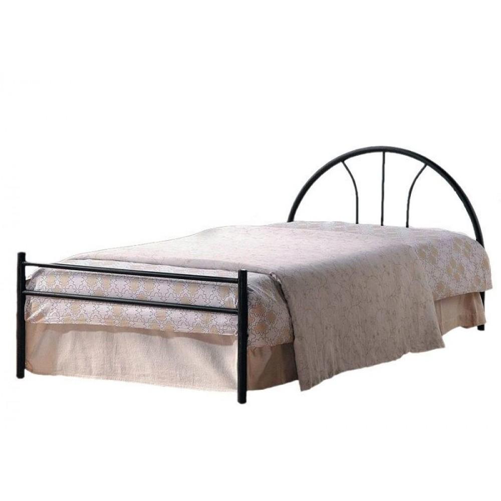 Кровать АТ-233 (200x90) Черный/Красный дуб — черный