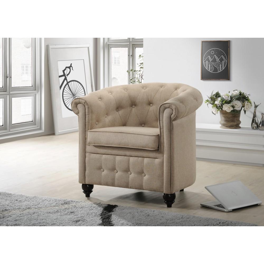 Кресло Secret De Maison London (Лондон) 5094.11  бежевый — Темный орех (Cappuchino)