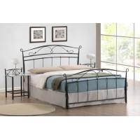 Кровать Соната 200x160 (9200-SNS MK-2107-BM) Черный металл
