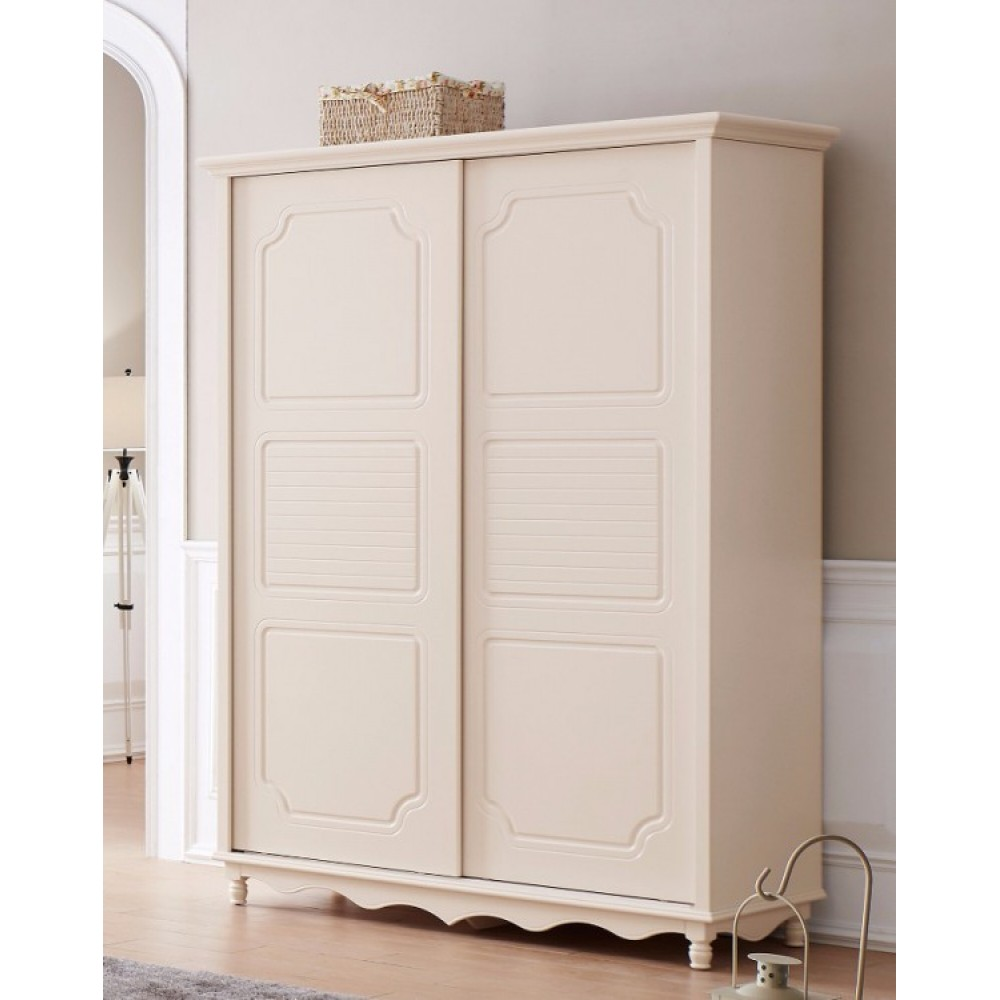Шкаф купе 2-х дверный Эмилия (Emilia MK-4613-IV) Слоновая кость