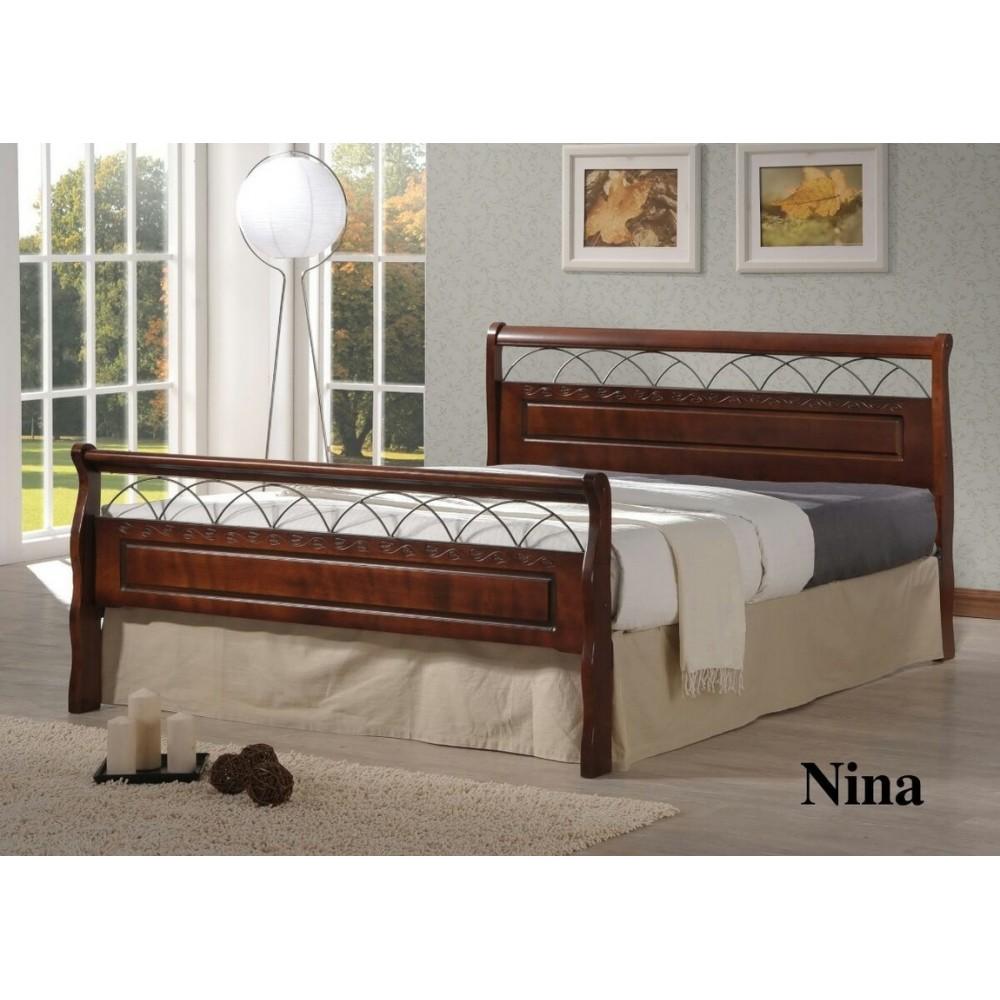 Кровать Нина 200x160 (Nina MK-5232-RO) Темная вишня