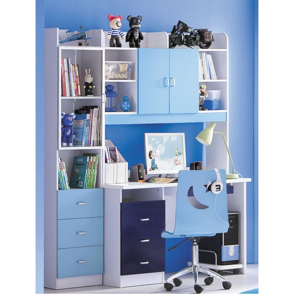 Письменный стол со стулом Бамбино (Bambino MK-4603-BL) Синий-белый