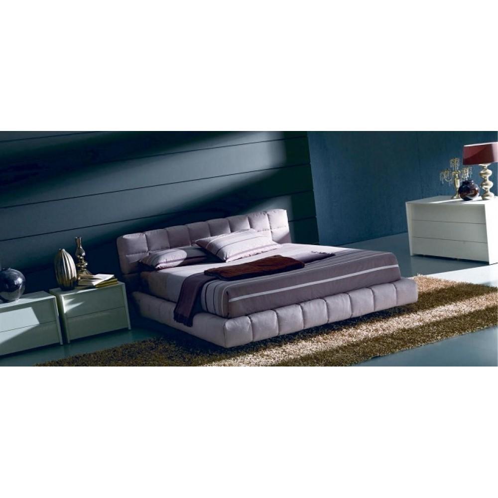 Кровать APOLLO (3261) 180x200 (TC001 Айвори, ткань кат.С) без ящика — фиолетовый