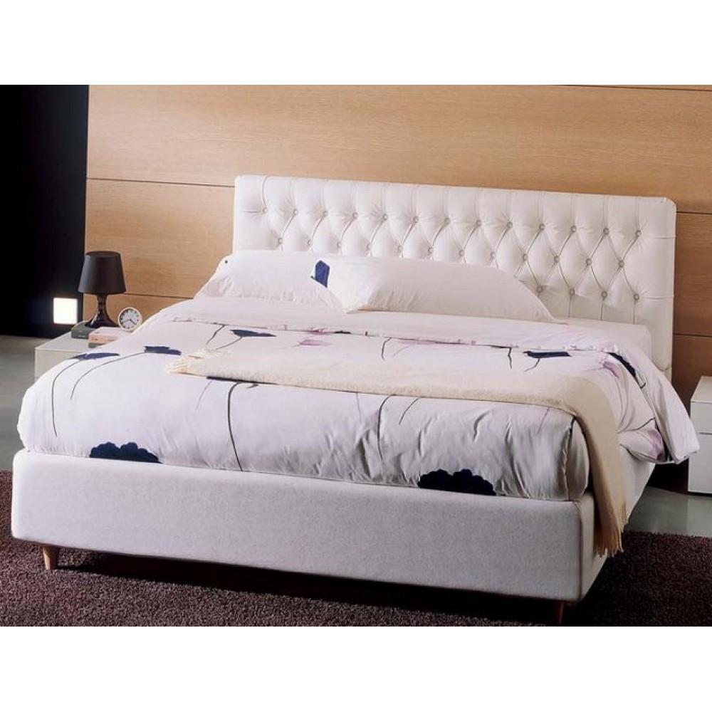 Кровать GLAD 45,08 160х200 см (TR250 молочный, экокожа) — молочный