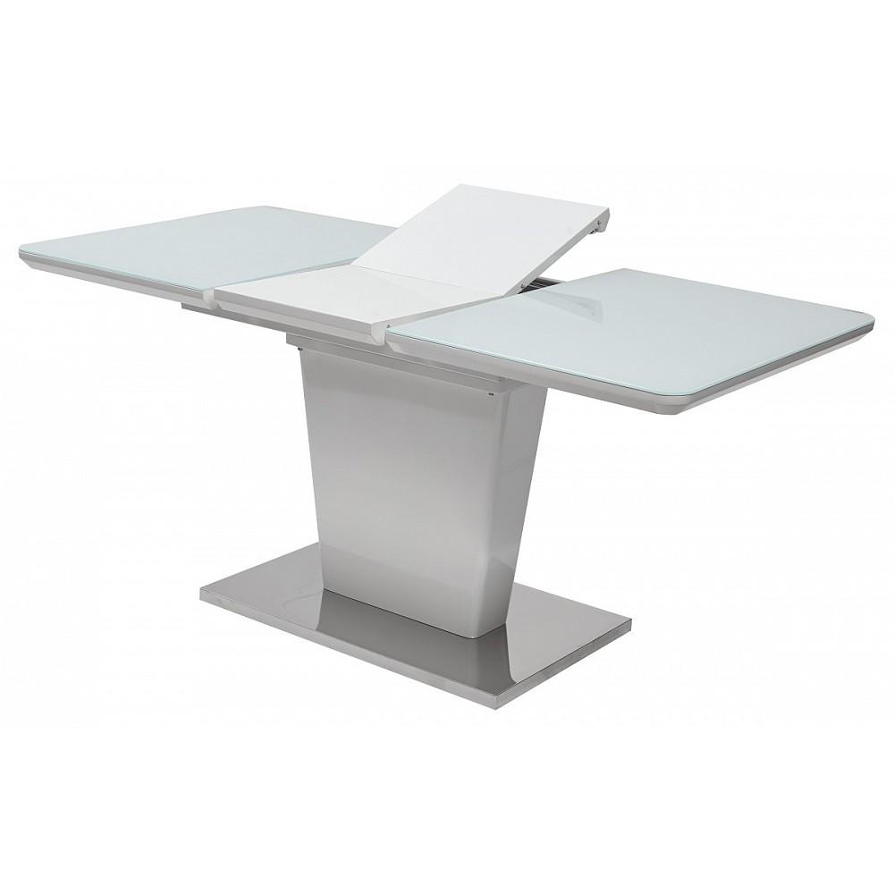 Стол TORIS 120 White MDF-1# / белое глянцевое стекло — белый