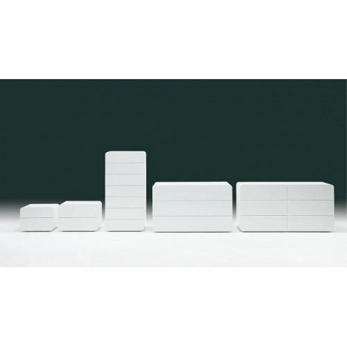 Тумба прикроватная RIBES 03.51 (L030 блест.белый) с 2 ящиками 60x44x42 см — белый