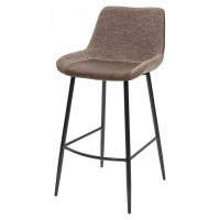 Барный стул BIARRITZ BAR BROWN, ткань — коричневый