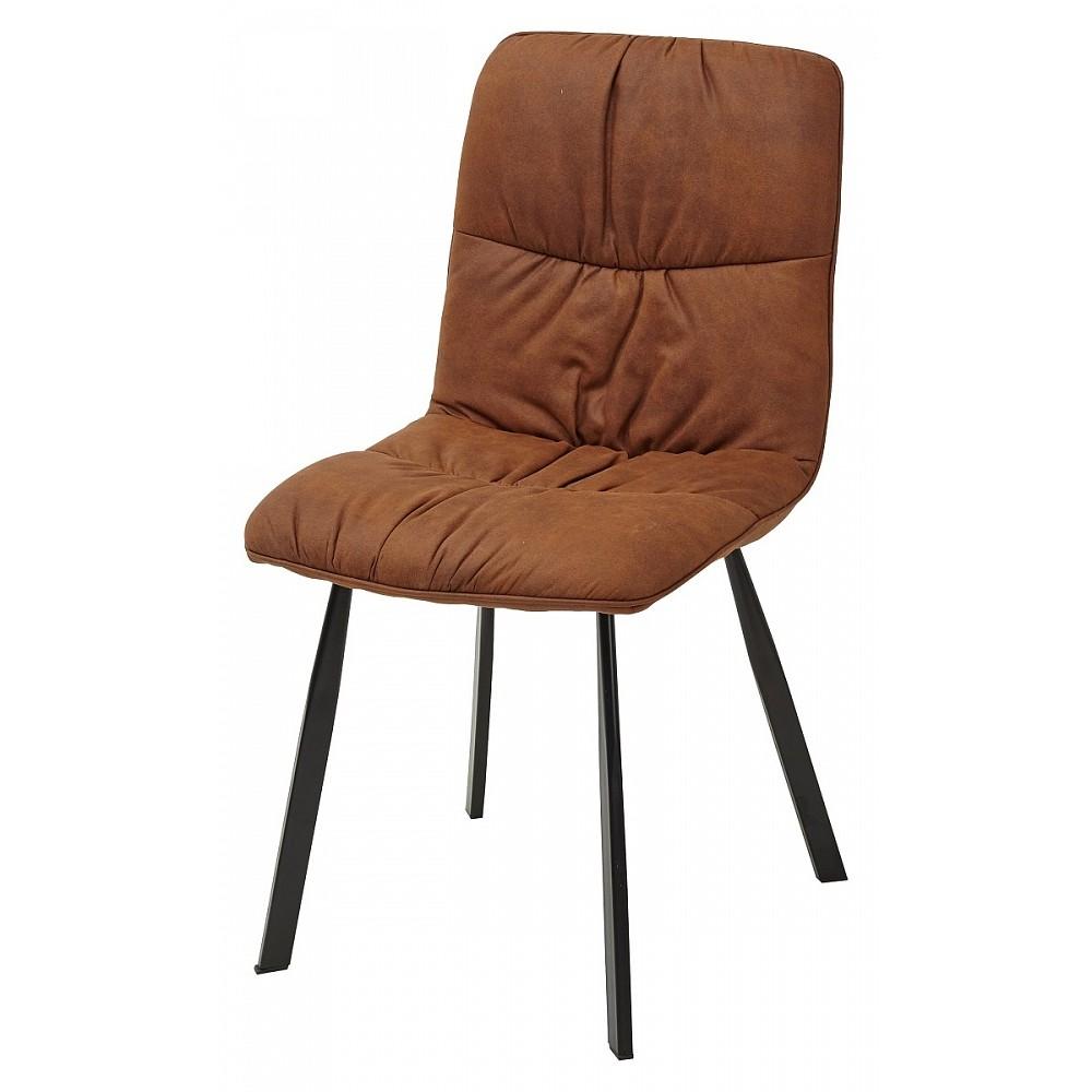 Стул BUFFALO коричнево-рыжий винтажный, микрофибра PK-02 — коричневый