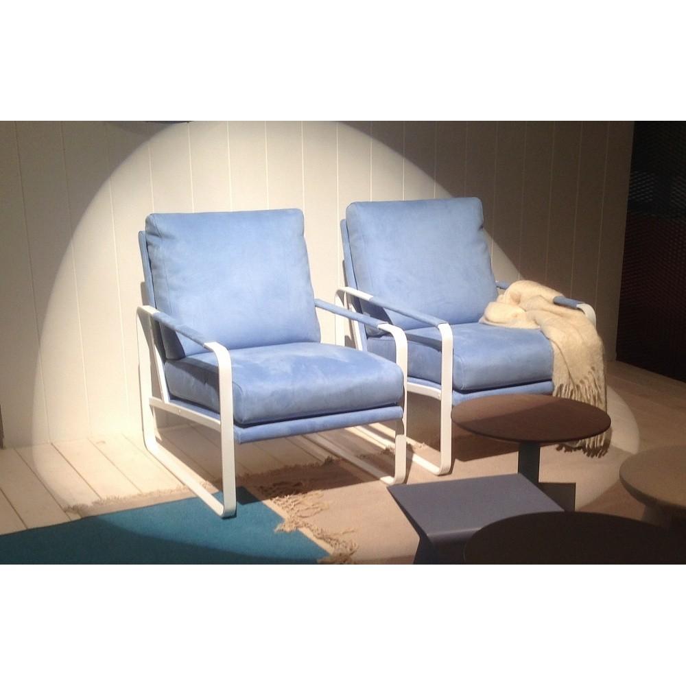 Кресло CLARISSA 1CLR000101A (TN005 снежно-голубой ) BONTEMPI