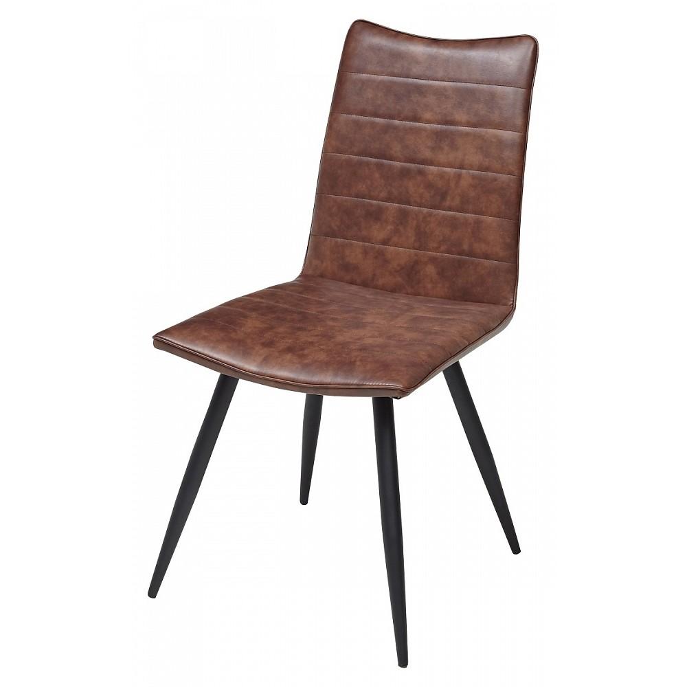 Стул BLOOM brown коричневый винтажный экокожа
