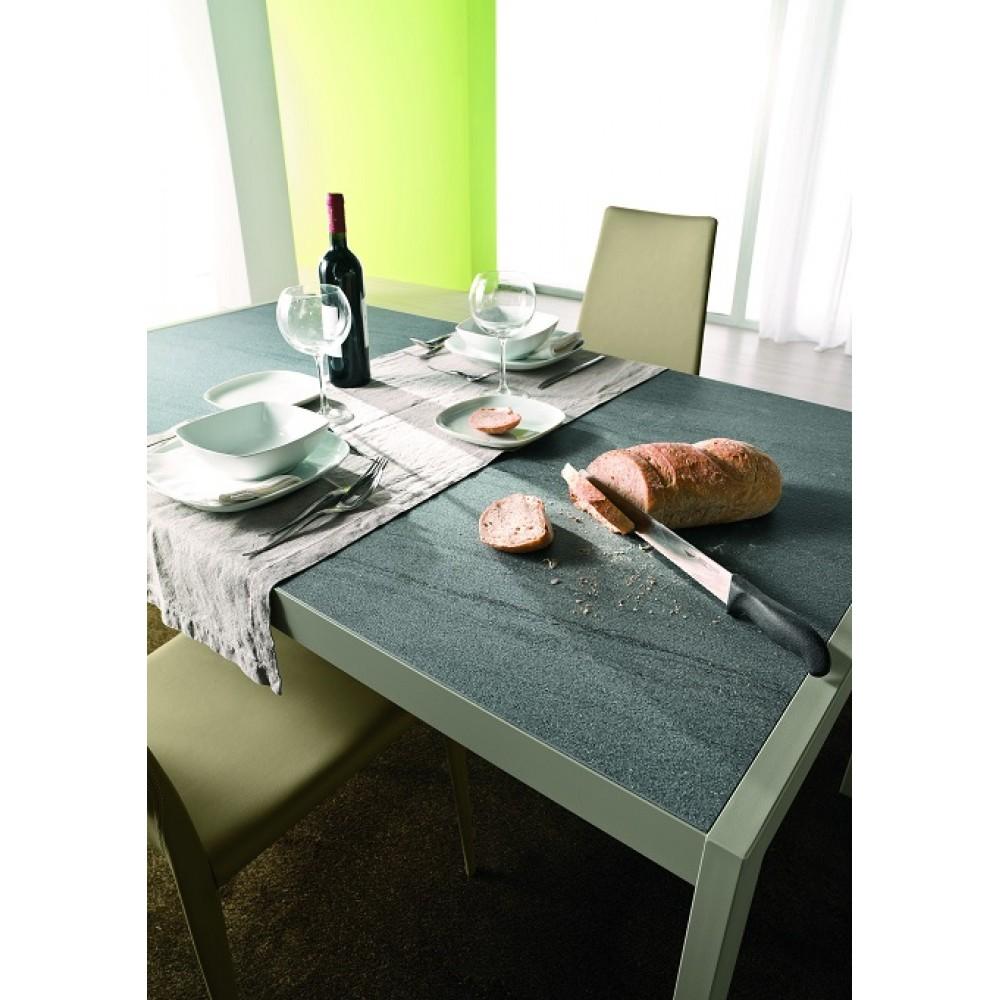 Стол LEO (42.55)120/170x80xН75 см (М312/M312/ D006/D006 цвета лавовый камень) — серый