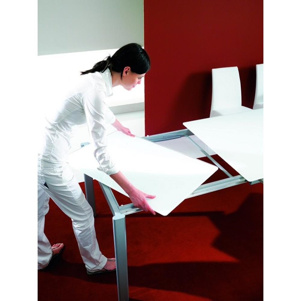 Стол MAGO (01.34) 100/140x70xН75 см (М312/ M312/ М312 песочн.композит+L072ал) — бежевый