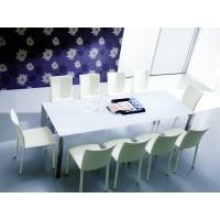 Стол SIRIO (42.39G) 130/180x85xН75 см (М089 алюмин./ С193 серо-кор. глянц ст) — серый