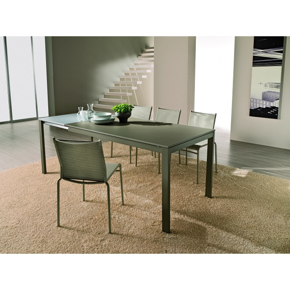 Стол EOS (42.34) М310/ M310/ С181 серо-кор. мат.сериг.ст+L072 вставка алюм — серый