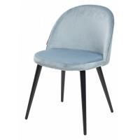 Стул JAZZ пудровый серо-голубой, велюр G062-43