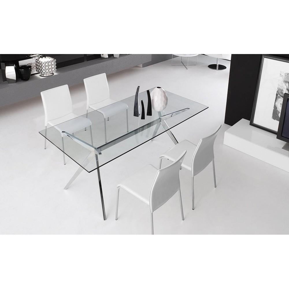 Стол стеклянный SEVEN — прозрачный
