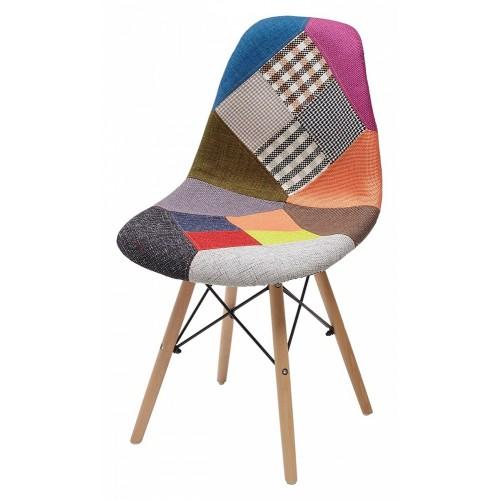 Стул MODERN-623C PATCHWORK, ткань — разноцветный