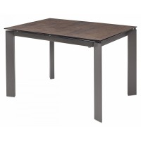 Стол CORNER 120 Glazed Glass Copper+Grey1 — темно-коричневый