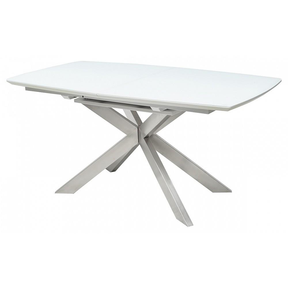 Стол CRYSTAL 160 WHITE MATT GLASS — белый