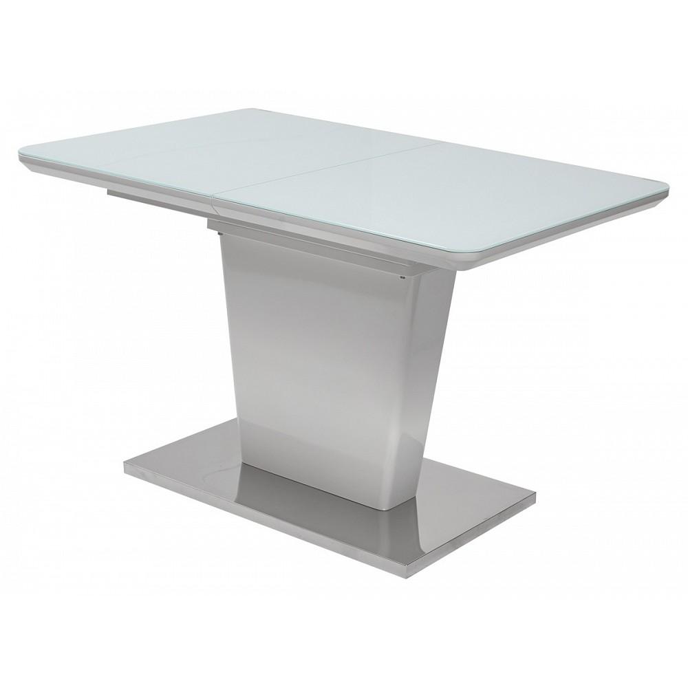 Стол TORIS 140 White MDF-1# / белое глянцевое стекло — белый