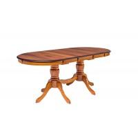 Стол TS OLIVIA овальный, NATURAL WALNUT (OL-T6EX(WV)) ШПОН ОРЕХА — натуральный
