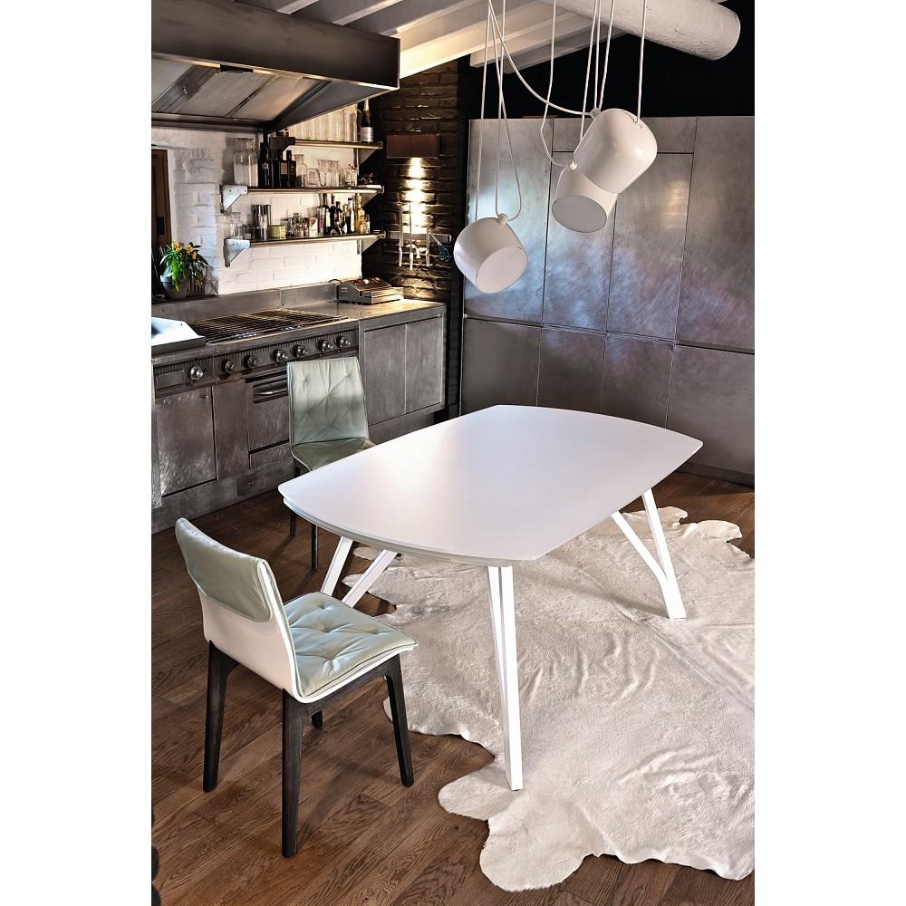Стол WONDER (20.48) 170/250x100x75 см (M089/C150) Bontempi — белый