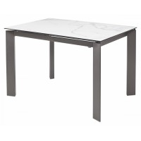 Стол CORNER 120 Spanish Marble Ceramic+Grey1 — белый