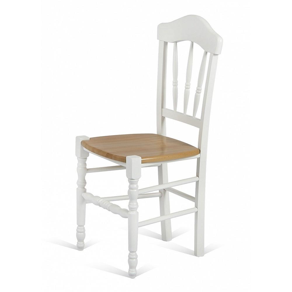 Стул 40F рустик с деревянным сиденьем — светло-коричневый
