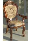 """Кресло """"20913 A"""" с мягкой спинкой и сидением —  Темный орех (MK-1343-HG)"""