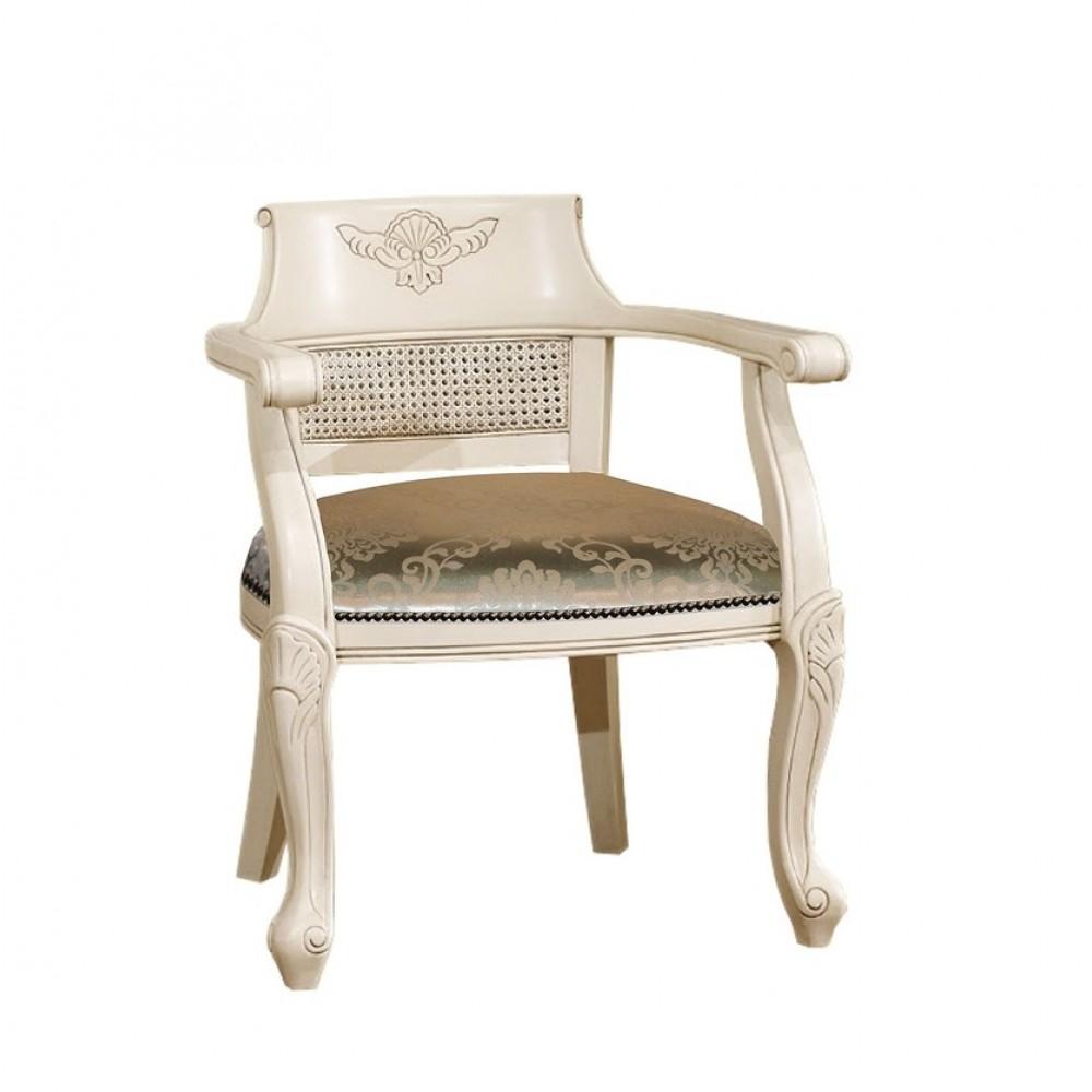 """Кресло с мягкой сидушкой """"Верджиния (Virginia)"""" —  Слоновая кость (MK-2474-IB)"""