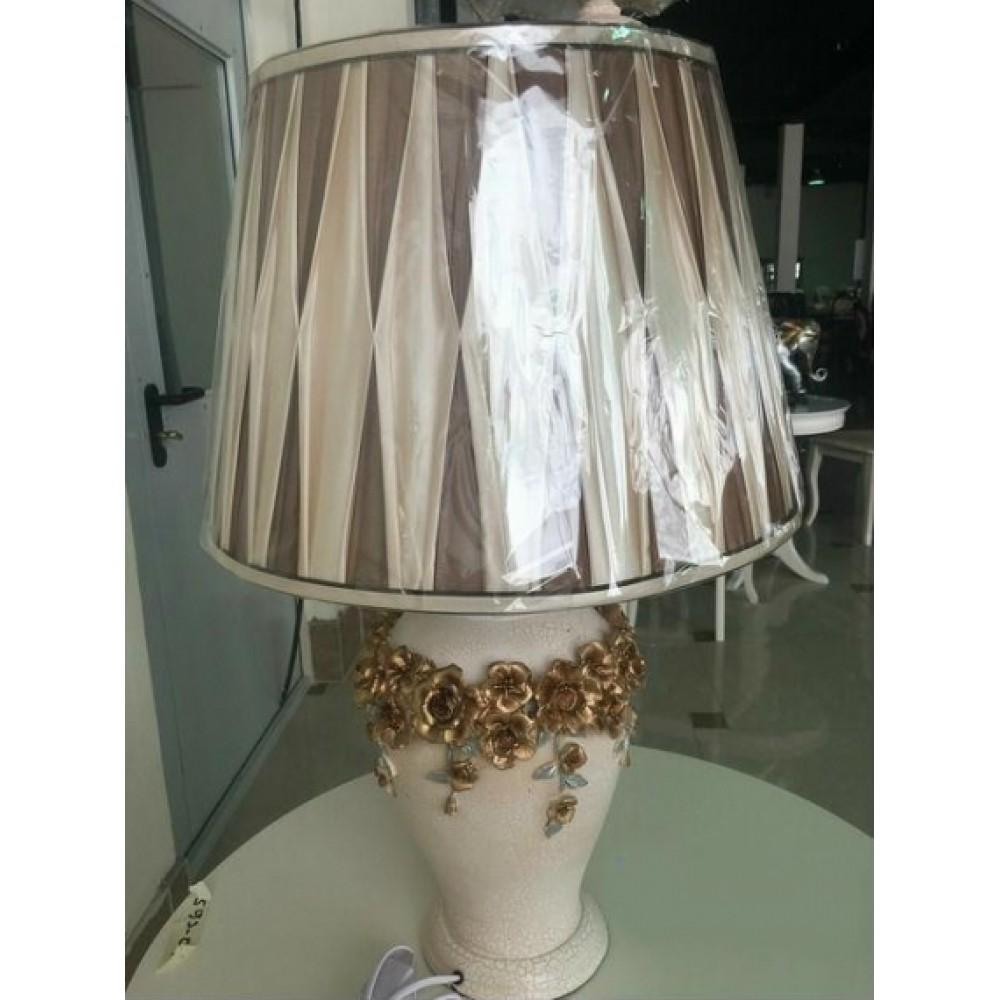 Cветильник с абажуром —  Белый (с золотом) (MK-4923)