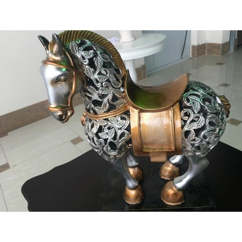 Фигура лошади большая —  Серебристый (MK-4939)