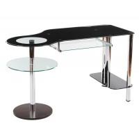 MK-2304 Компьютерный столик Хром+цёрный