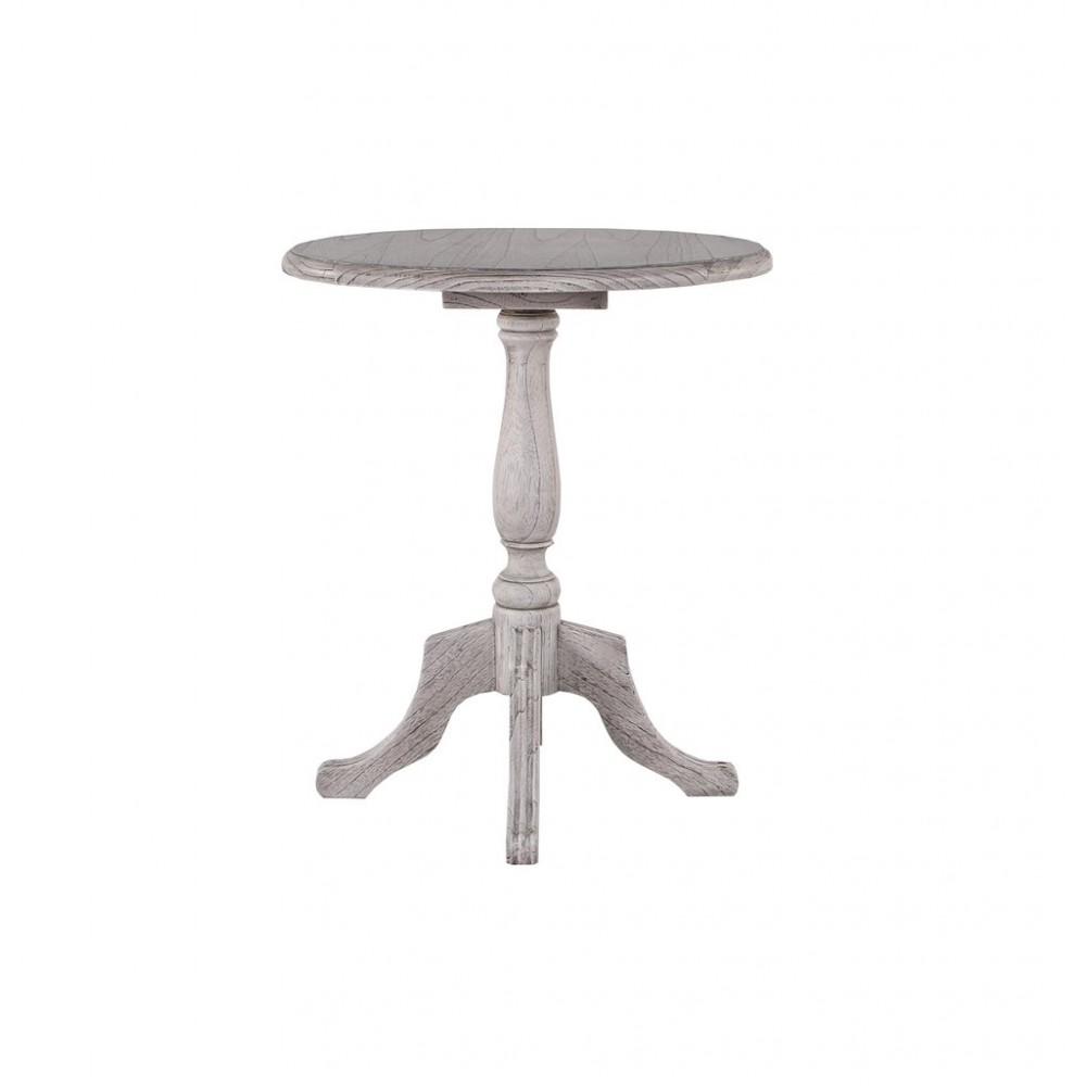 Daisy table Журнальный столик 60х60х70 см (Цвет: Duco+Glaze Black - Античный серый) MK-3255-DG