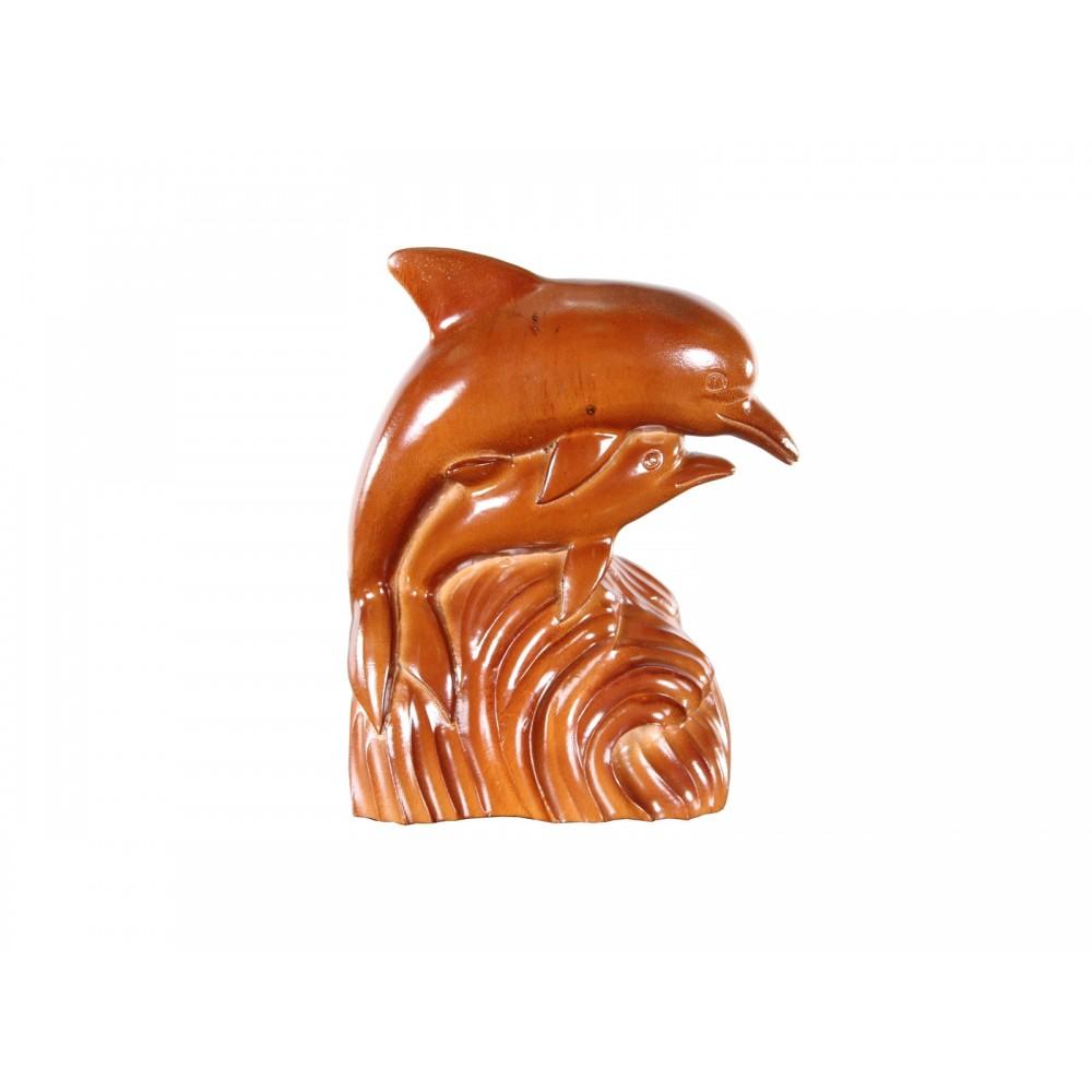 """Фигурка """"Дельфины (HD-64/30)"""" —  Salak brown (темный орех) (MK-2486)"""