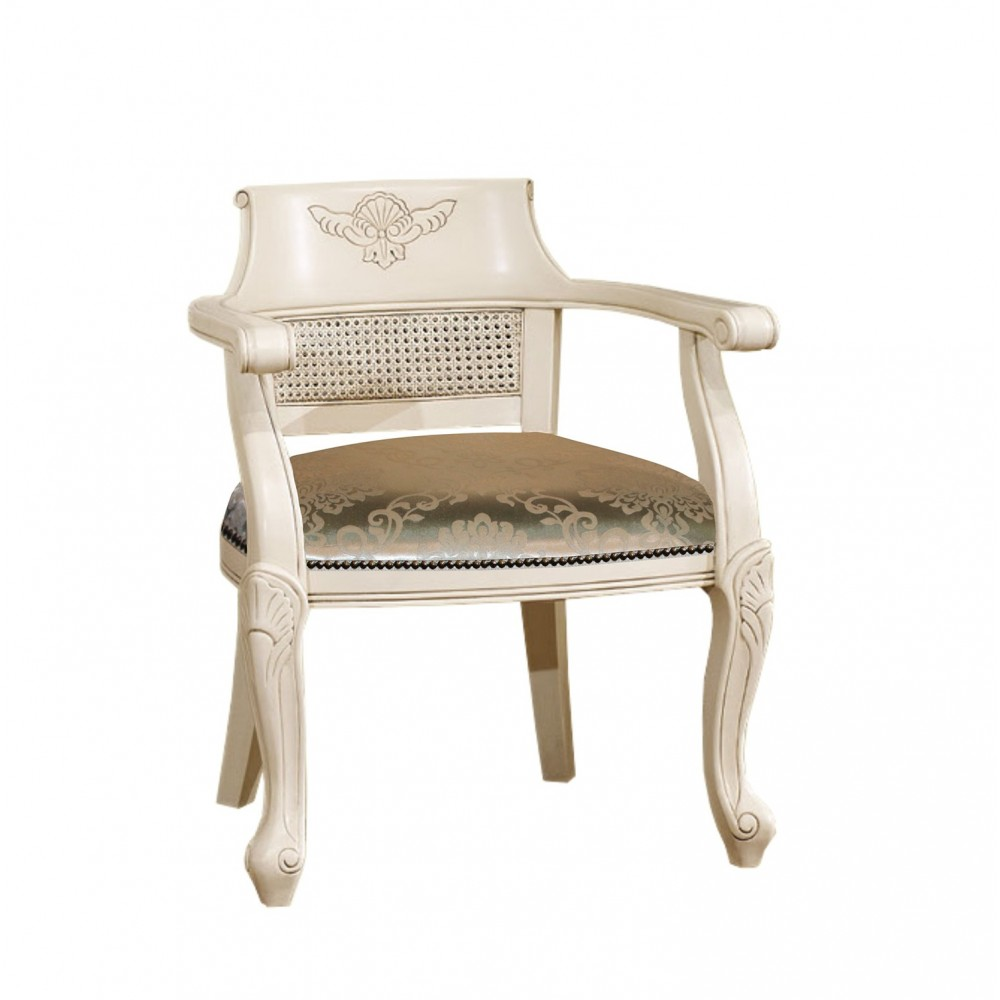 """Кресло с мягкой сидушкой """"Верджиния (Virginia)"""" —  Слоновая кость (MK-2474-IV)"""