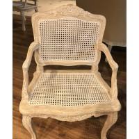 """Кресло необитое """"MK-3313-CE"""" (с элементами ротанга) —  Античный бежевый"""