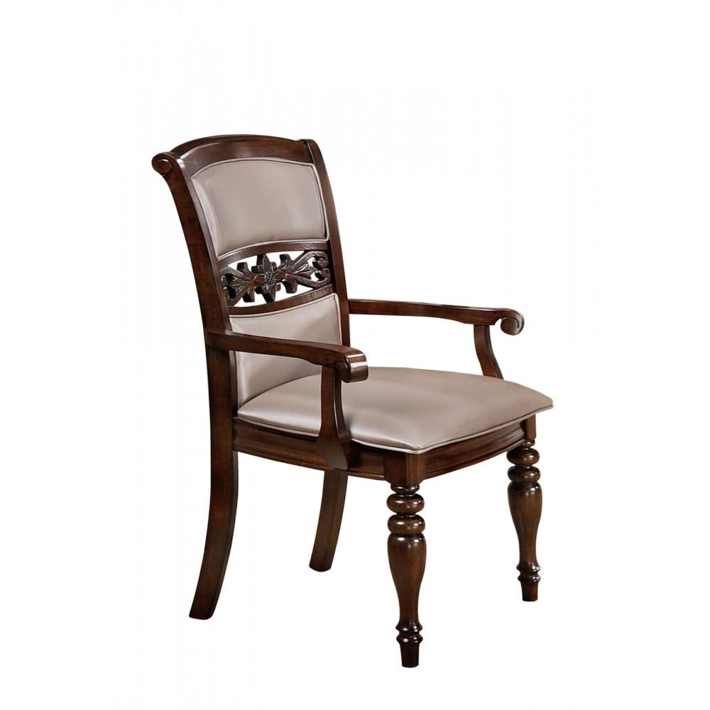 """Кресло """"Тривия (TRIVIA)"""" с мягким сиденьем и спинкой —  Light Walnut (Темный орех) (MK-4527-LW)"""