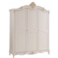 """Шкаф 3-х дверный """"Шанталь (Shantal)"""" —  Белый (с золотом) (MK-5014-WG)"""