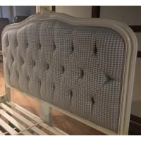 """Кровать """"Флоранс (Florence)"""" (изголовье - ткань NDS165) — Молочный (MK-5020-AW)"""