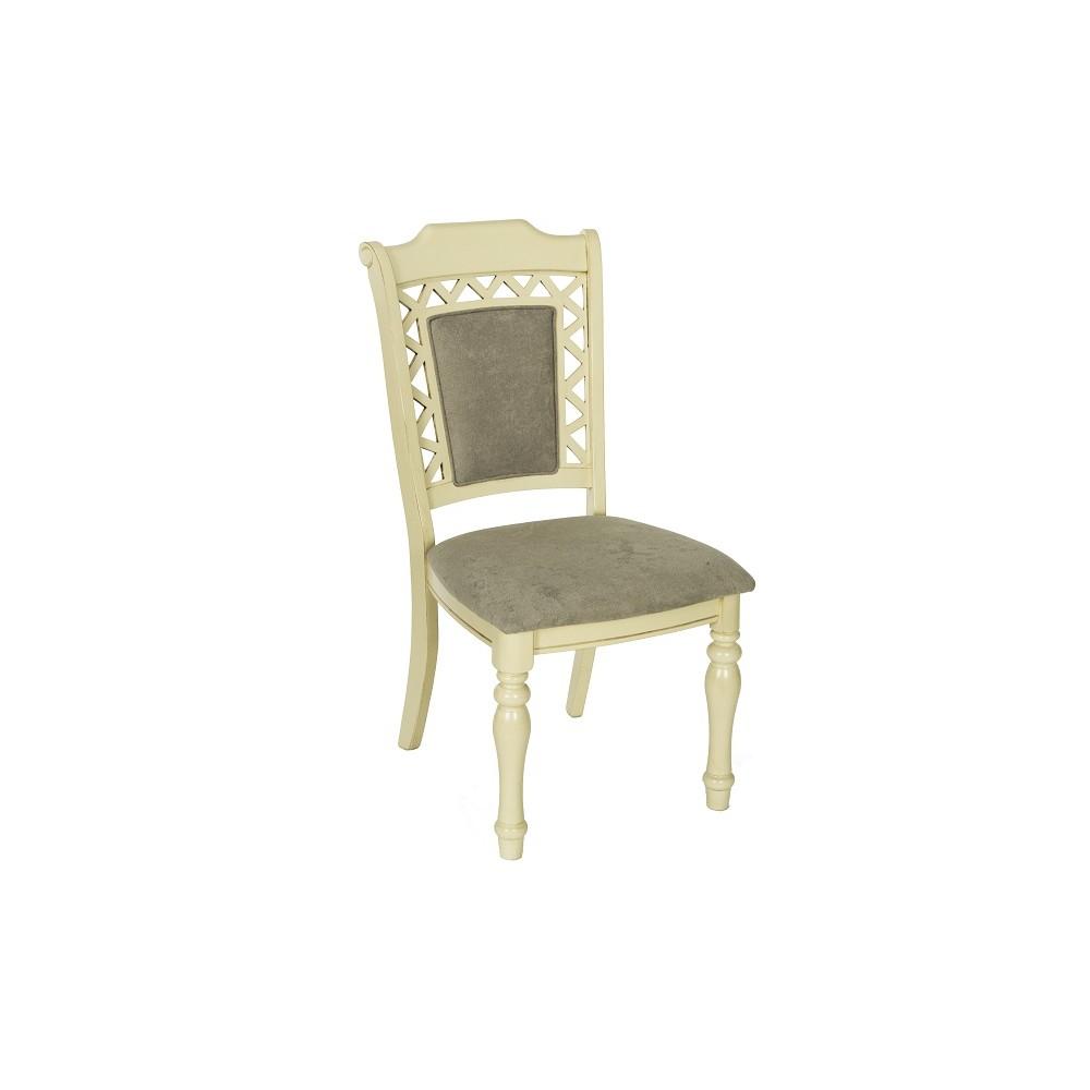 """Стул """"Шарлиз (CHARLIZE)"""" с мягким сиденьем и спинкой —  Ivory (Кремовый с темной патиной) (MK-4511-IV)"""