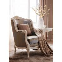 """Кресло мягкое """"Шанталь (Shantal)"""" —  Белый (с золотом) (MK-5100-WG)"""